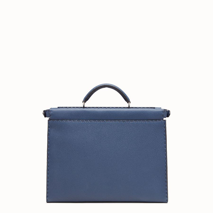 FENDI PEEKABOO FIT - Tasche aus Leder in Blau - view 3 detail