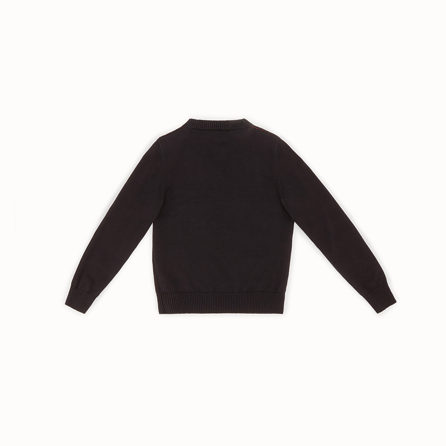FENDI CREW-NECK - Cotton and cashmere sweater with intarsia - view 2 detail