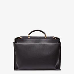 FENDI PEEKABOO ICONIC ESSENTIAL - Black leather bag - view 3 thumbnail