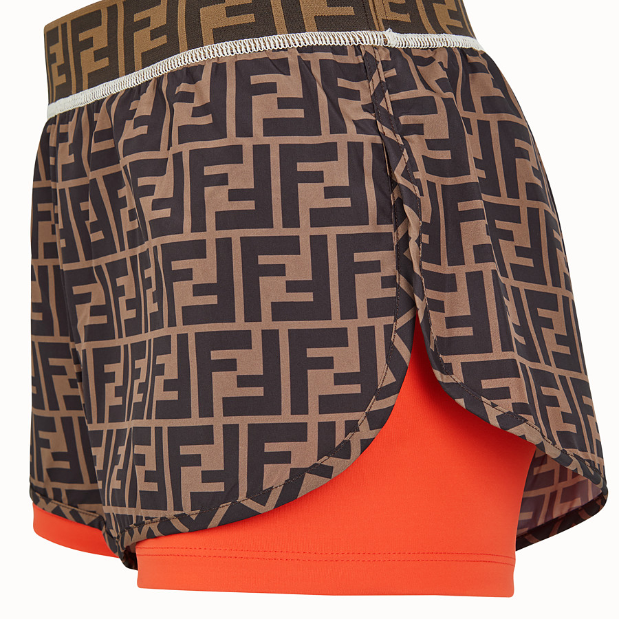 FENDI SHORTS - Multicolor fabric shorts - view 3 detail