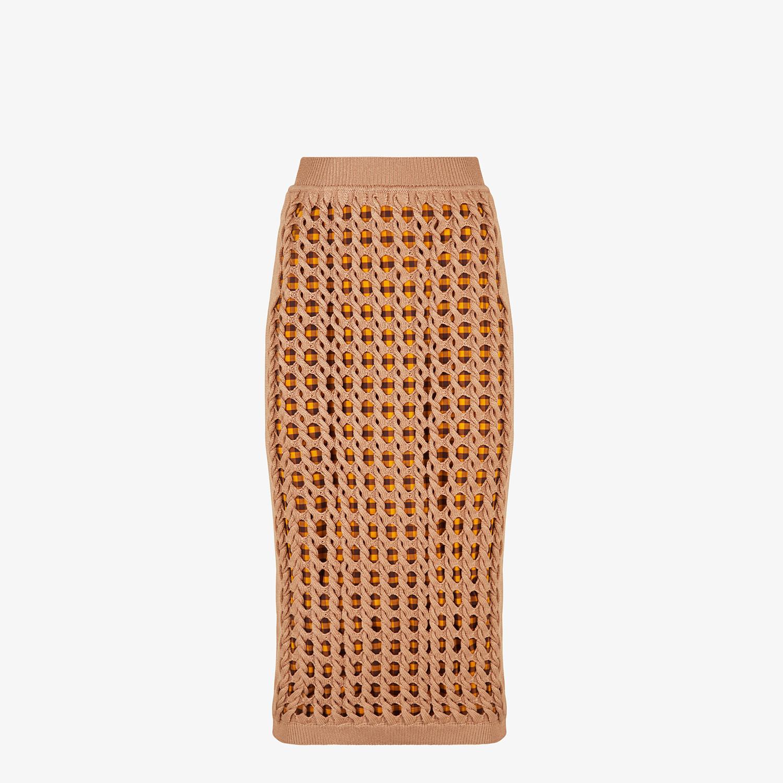 FENDI SKIRT - Beige jersey skirt - view 1 detail