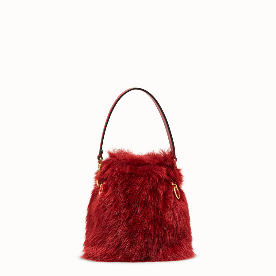 FENDI MON TRESOR - Mini bag in red sheepskin - view 3 detail