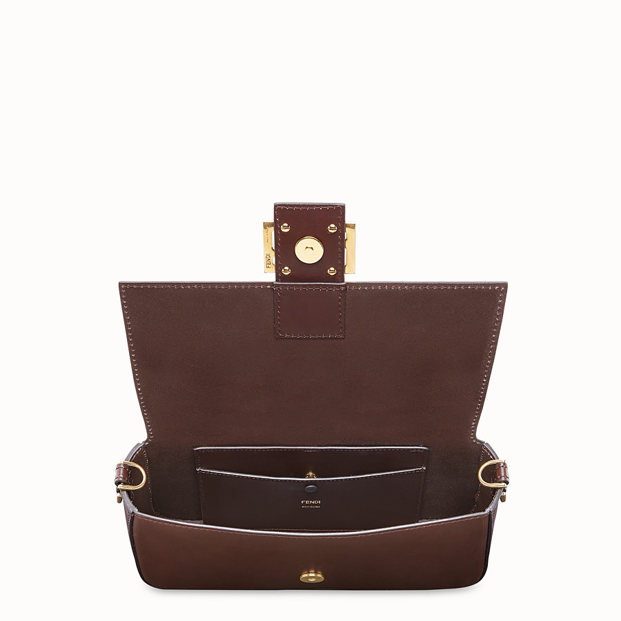 FENDI BAGUETTE WITH BASKET CASE - Brown leather bag - view 6 detail