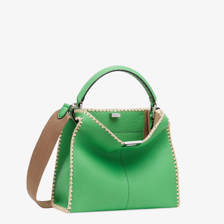 FENDI PEEKABOO X-LITE MEDIUM - Green leather bag - view 4 detail
