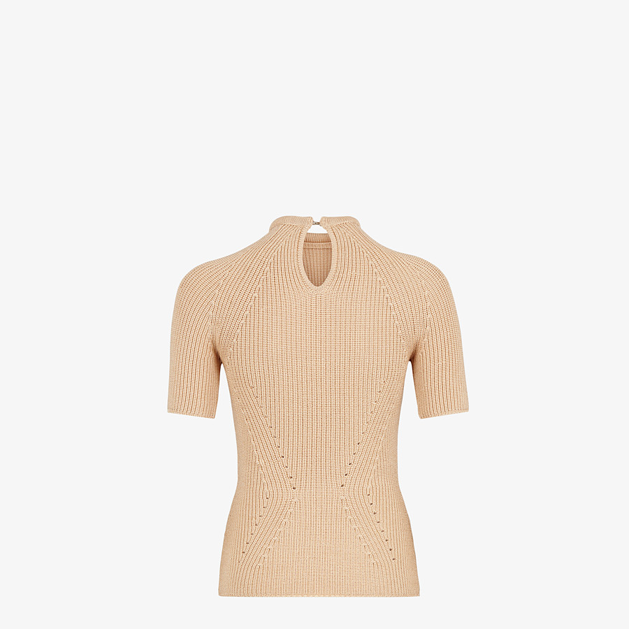 FENDI SWEATER - Sweater in beige silk - view 2 detail