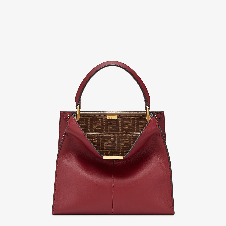 FENDI PEEKABOO X-LITE MEDIUM - Burgundy leather bag - view 3 detail