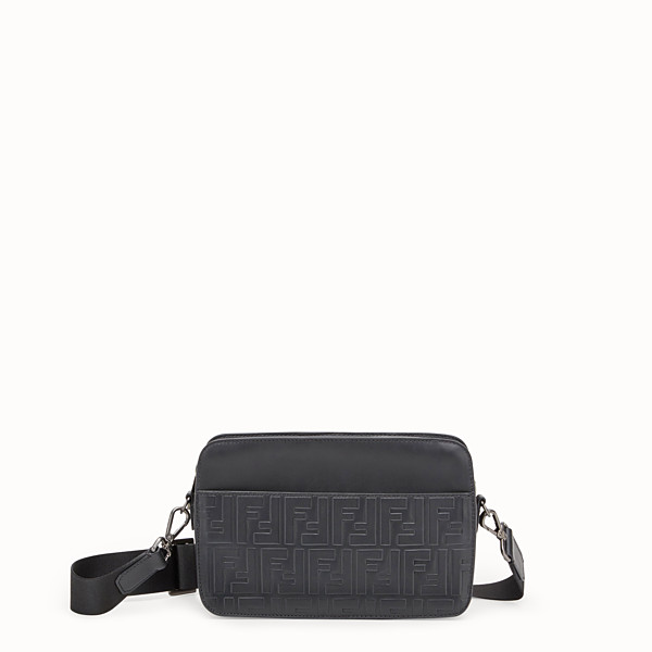 FENDI MESSANGER - Black leather bag - view 1 small thumbnail