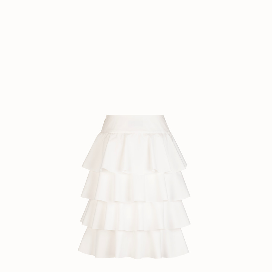 FENDI SKIRT - White cotton skirt - view 2 detail