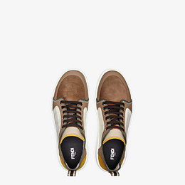 FENDI SNEAKERS - Multicolor leather and suede low-tops - view 4 thumbnail