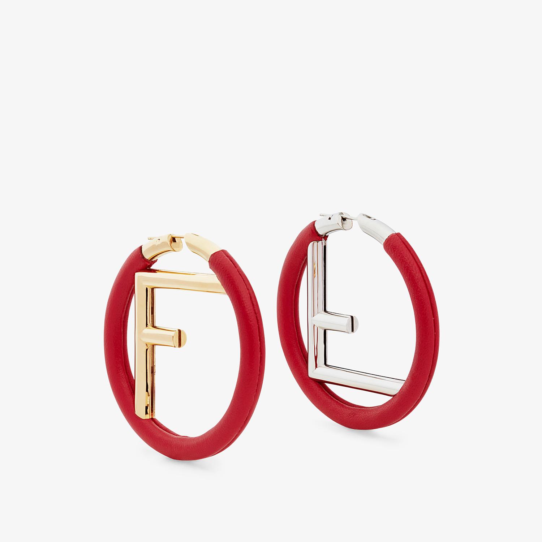 FENDI F IS FENDI EARRINGS - Red nappa leather earrings - view 1 detail