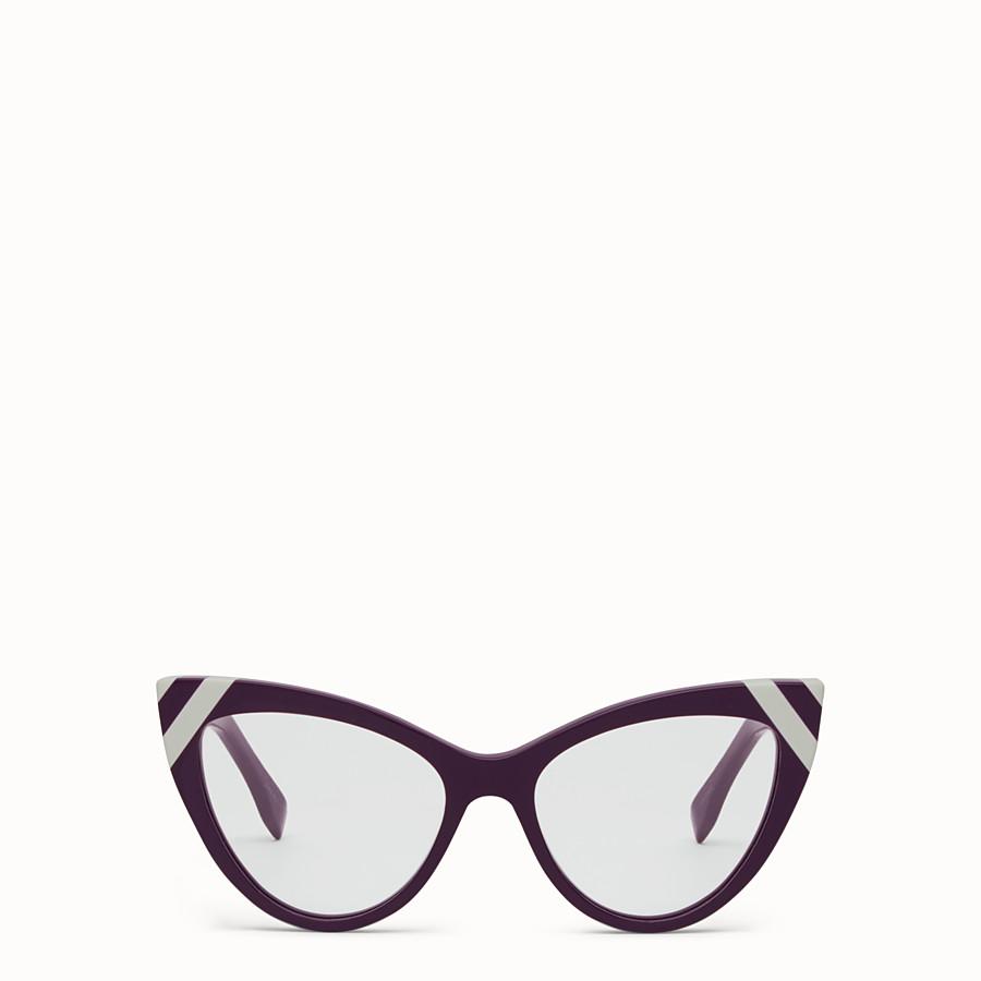 FENDI WAVES - Sunglasses with transparent lenses - view 1 detail