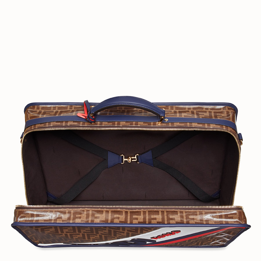 FENDI LUGGAGE - Brown fabric suitcase - view 4 detail