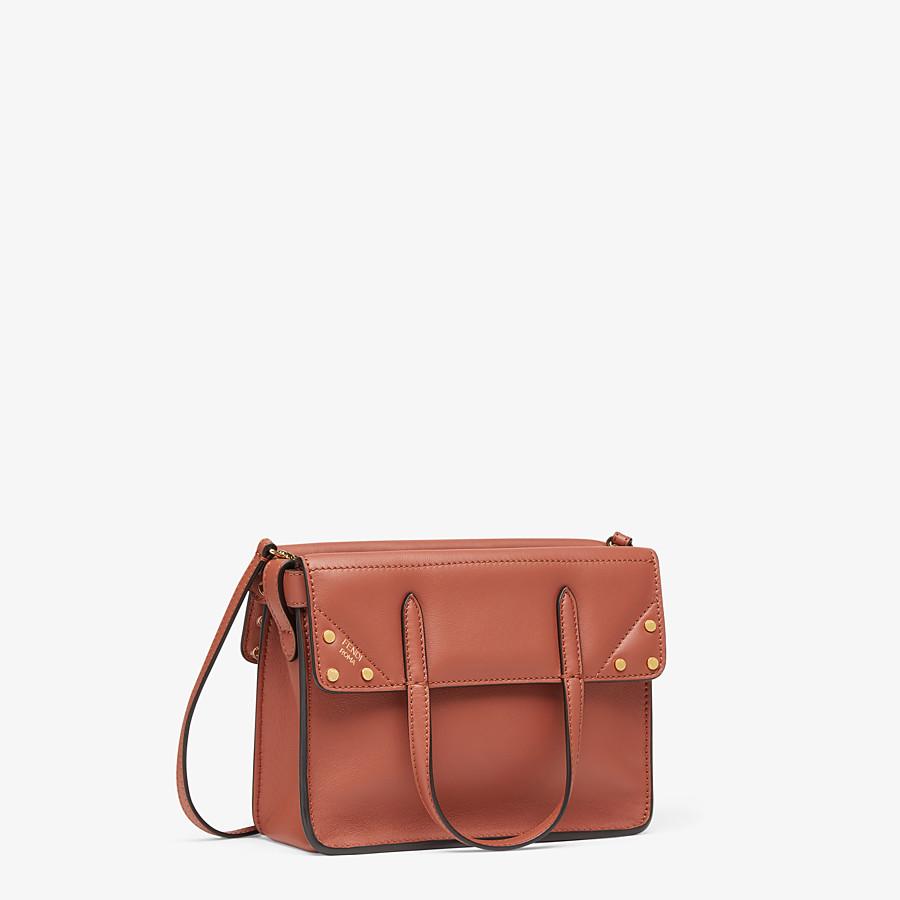 FENDI FENDI FLIP SMALL - Red leather mini-bag - view 3 detail