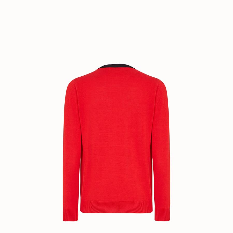 FENDI セーター - レッドコットン セーター - view 2 detail
