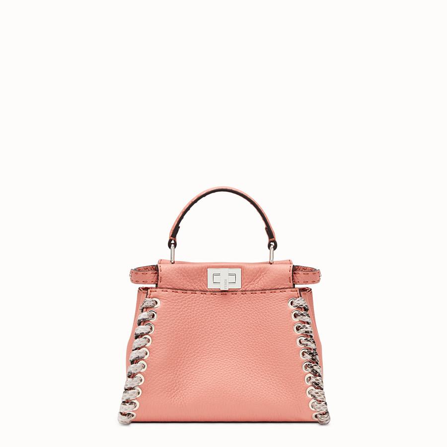 FENDI PEEKABOO MINI - Minibag in pelle rosa ed esotico - vista 1 dettaglio