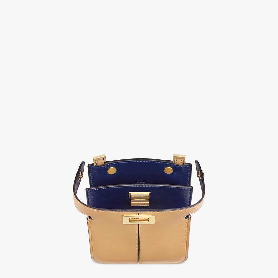 FENDI PEEK-A-PHONE - Beige leather pouch - view 3 detail