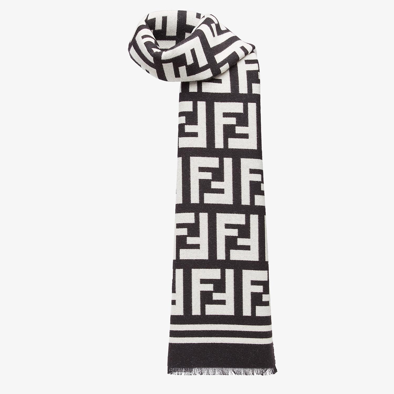 FENDI SCIARPA - Sciarpa in lana e seta nera - vista 2 dettaglio