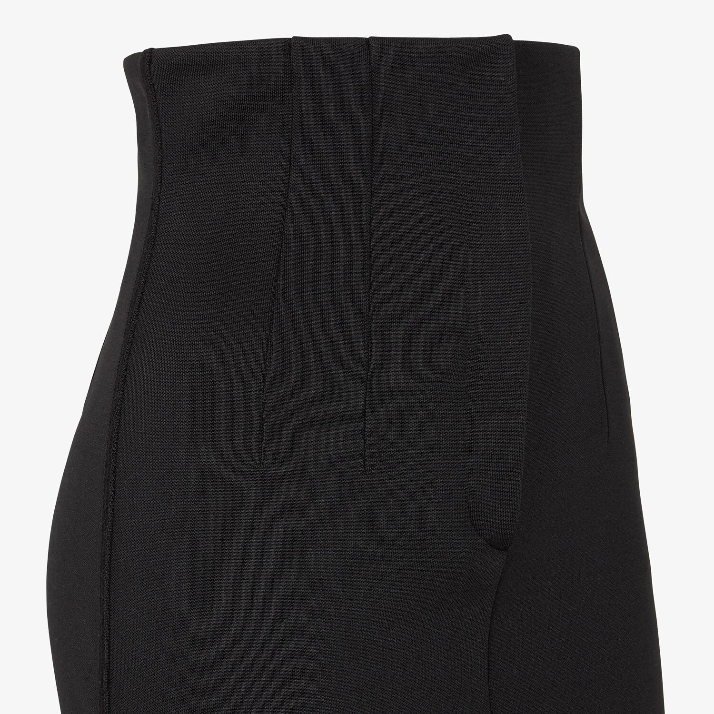 FENDI SKIRT - Black piqué skirt - view 3 detail
