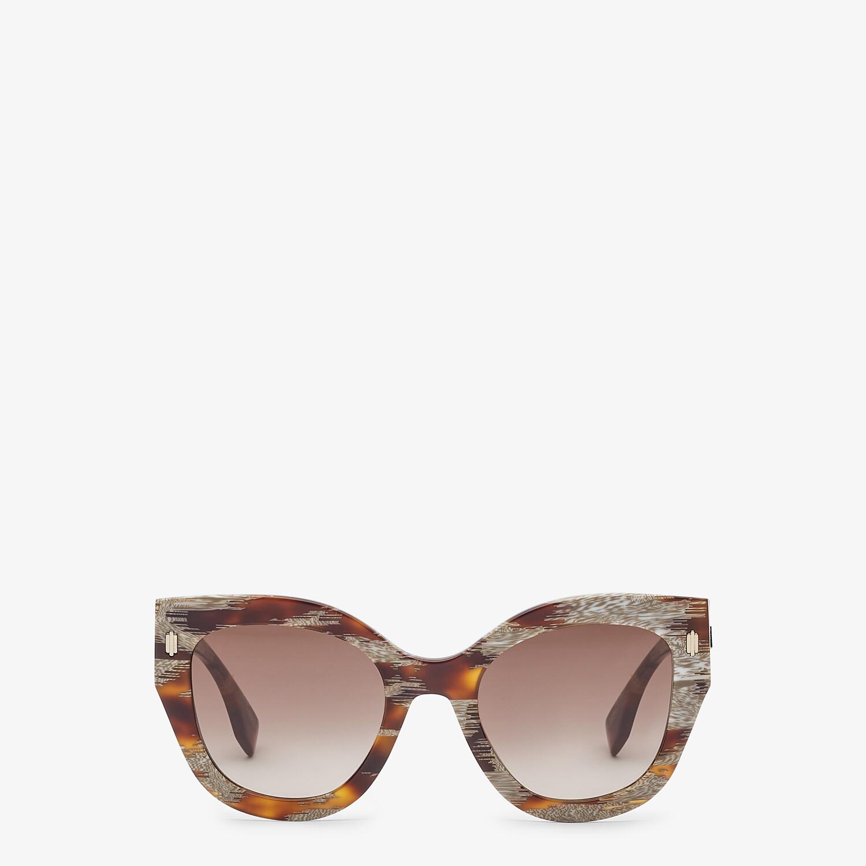 FENDI FENDI ROMA - Gafas de sol de acetato havana animal - view 1 detail