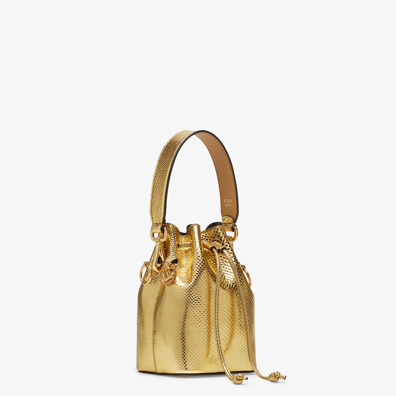 FENDI MON TRESOR - Gold colored karung mini-bag - view 2 detail