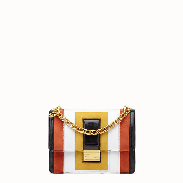 FENDI KAN U - Multicolor leather and suede bag - view 1 small thumbnail