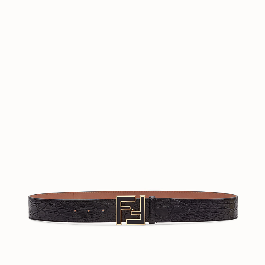 FENDI BELT - Black caiman belt - view 1 detail