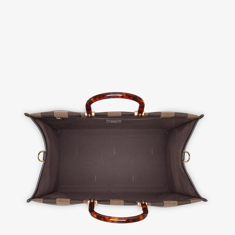 FENDI FENDI SUNSHINE LARGE - Shopper in brown fabric - view 5 detail