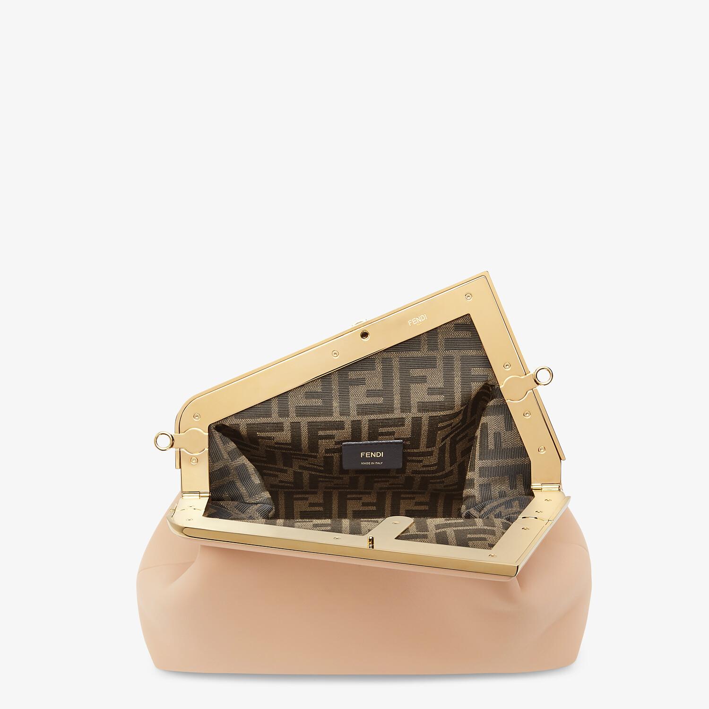 FENDI FENDI FIRST MEDIUM - Pink leather bag - view 4 detail