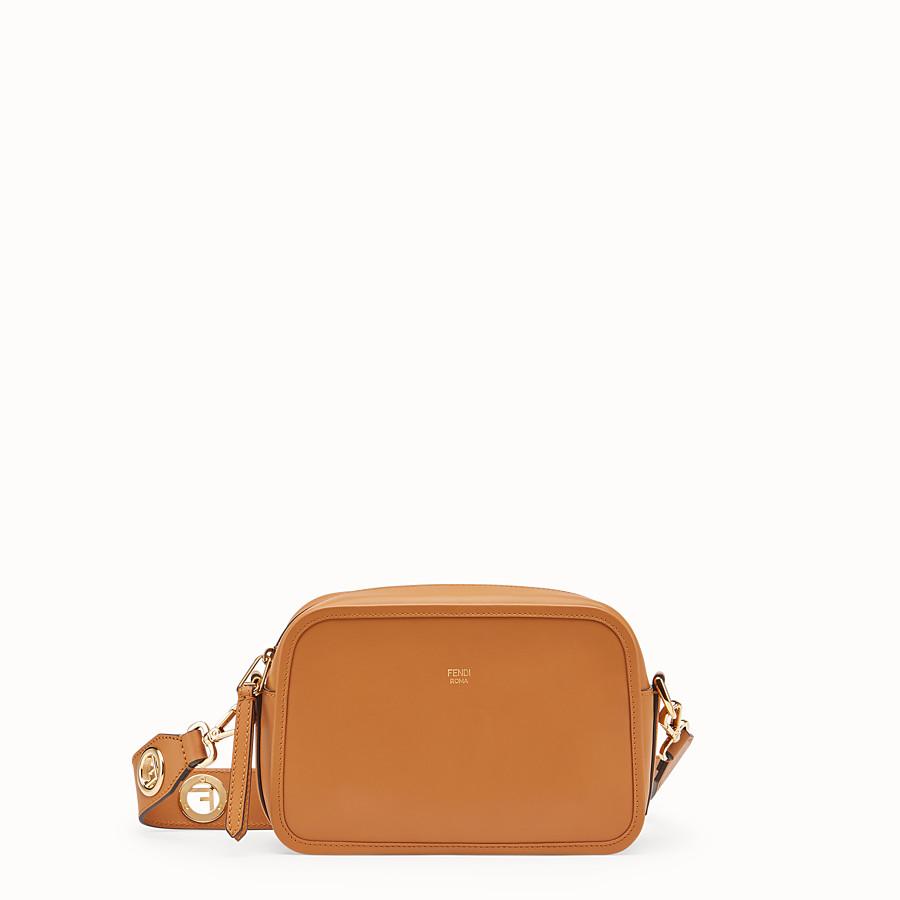 FENDI CAMERA CASE - Brown leather bag - view 1 detail