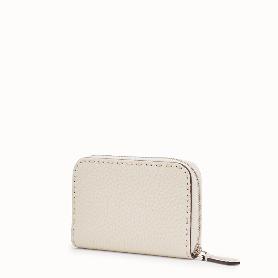 FENDI SMALL ZIP-AROUND - White leather wallet - view 2 detail