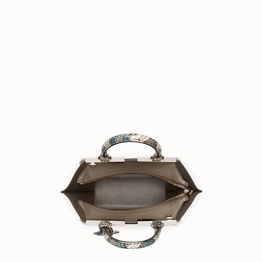 FENDI MINI 3JOURS - Python handbag in shades of green - view 4 detail