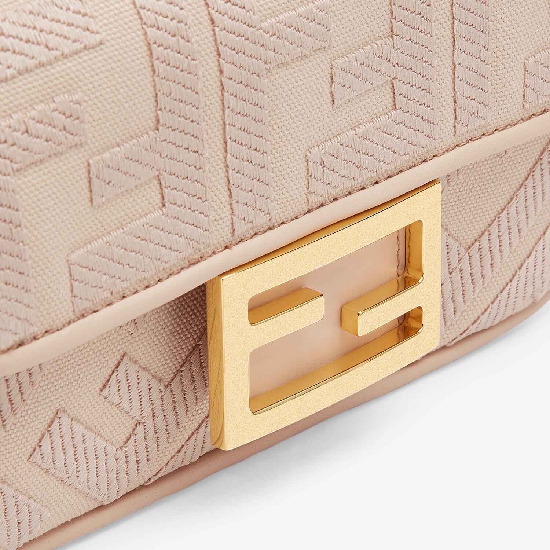 FENDI MINI BAGUETTE - Pink FF canvas bag - view 5 detail