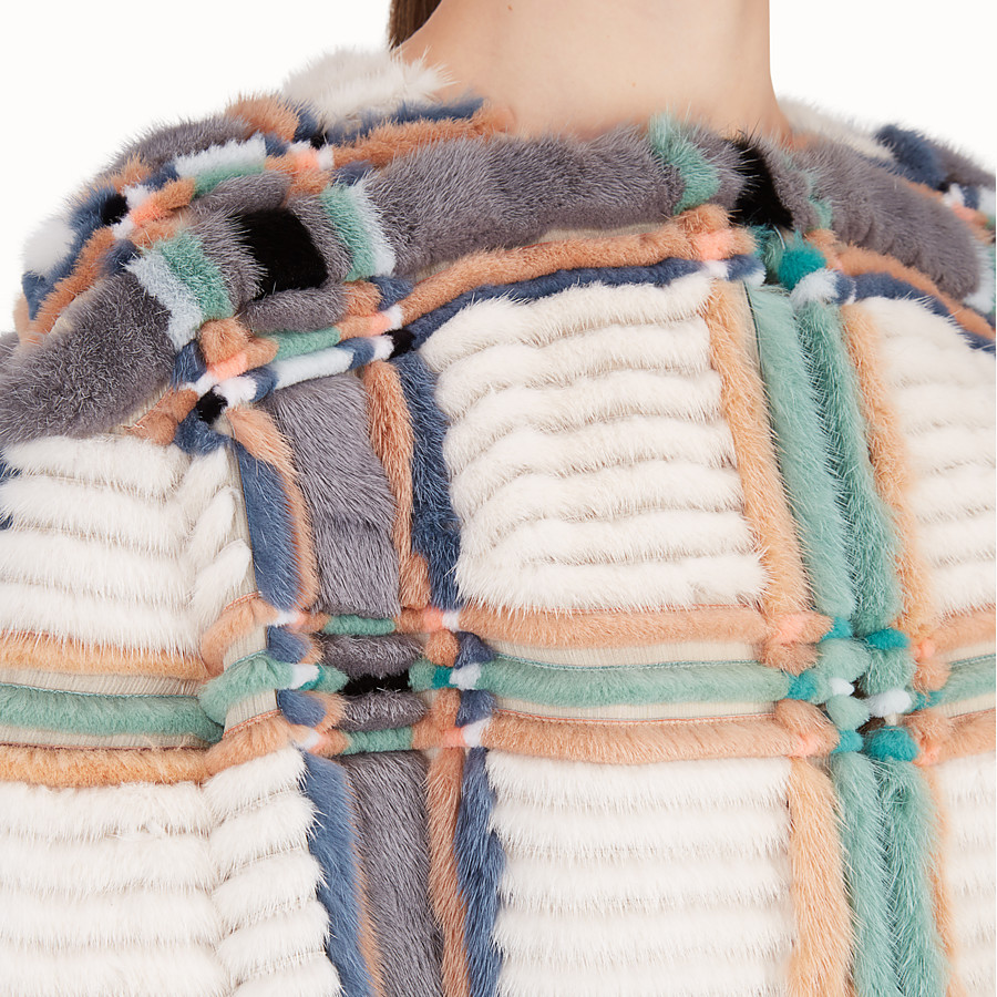 FENDI COAT - Multicolour mink coat - view 3 detail