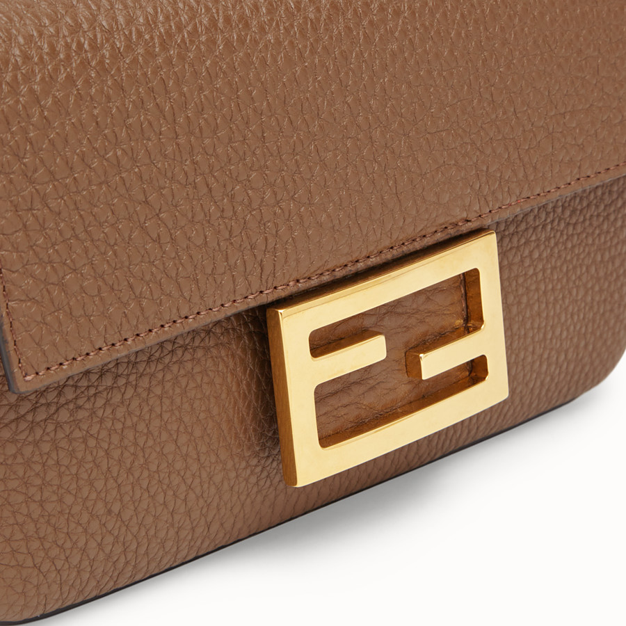FENDI MINI BAGUETTE - Brown leather bag - view 5 detail