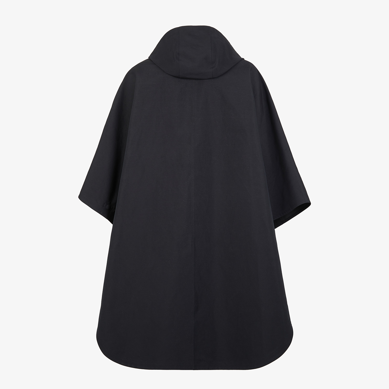 FENDI CLOAK - Black cotton overcoat - view 2 detail