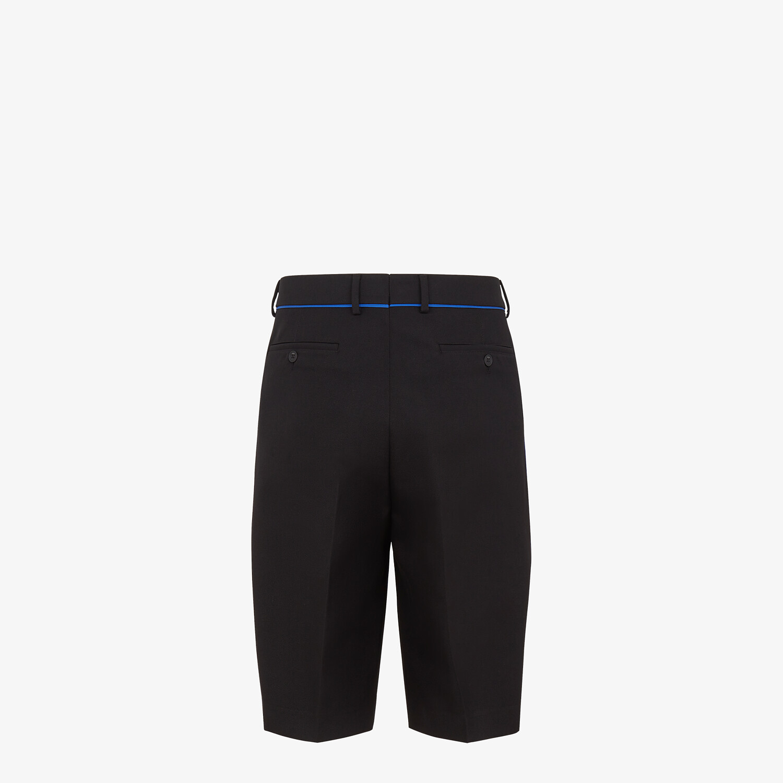 FENDI BERMUDAS - Black wool pants - view 2 detail