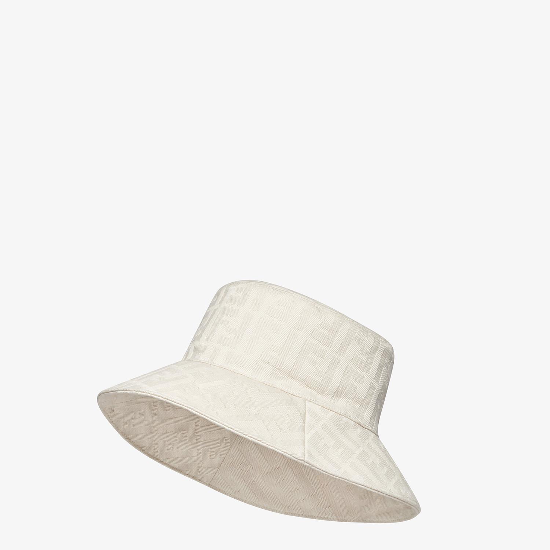 FENDI HAT - White canvas bucket hat - view 1 detail