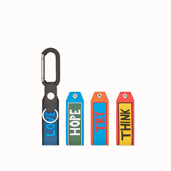 FENDI KEYRING - Spring clip with set of 4 tags - view 1 small thumbnail