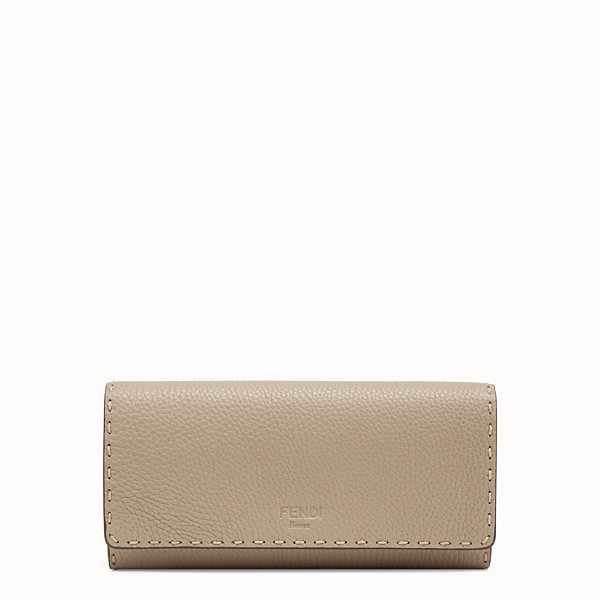 FENDI CONTINENTAL - Beige leather wallet - view 1 small thumbnail