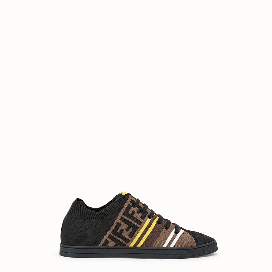 FENDI SNEAKERS - Black tech fabric low tops - view 1 detail