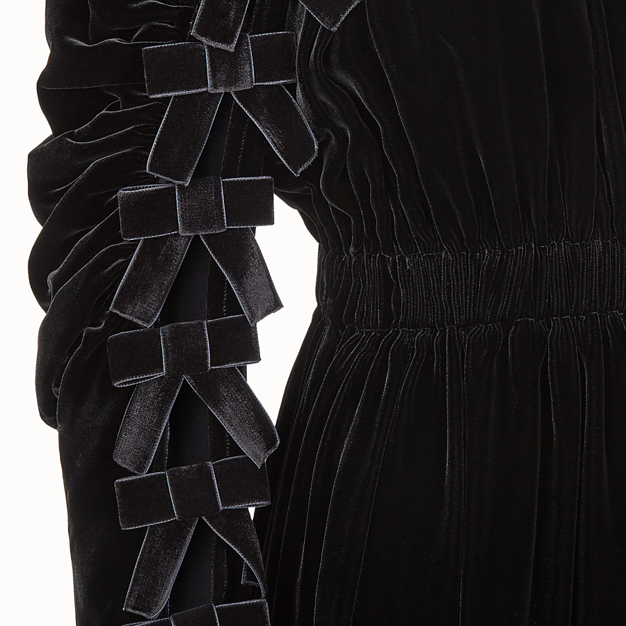 FENDI DRESS - Black velvet dress - view 3 detail