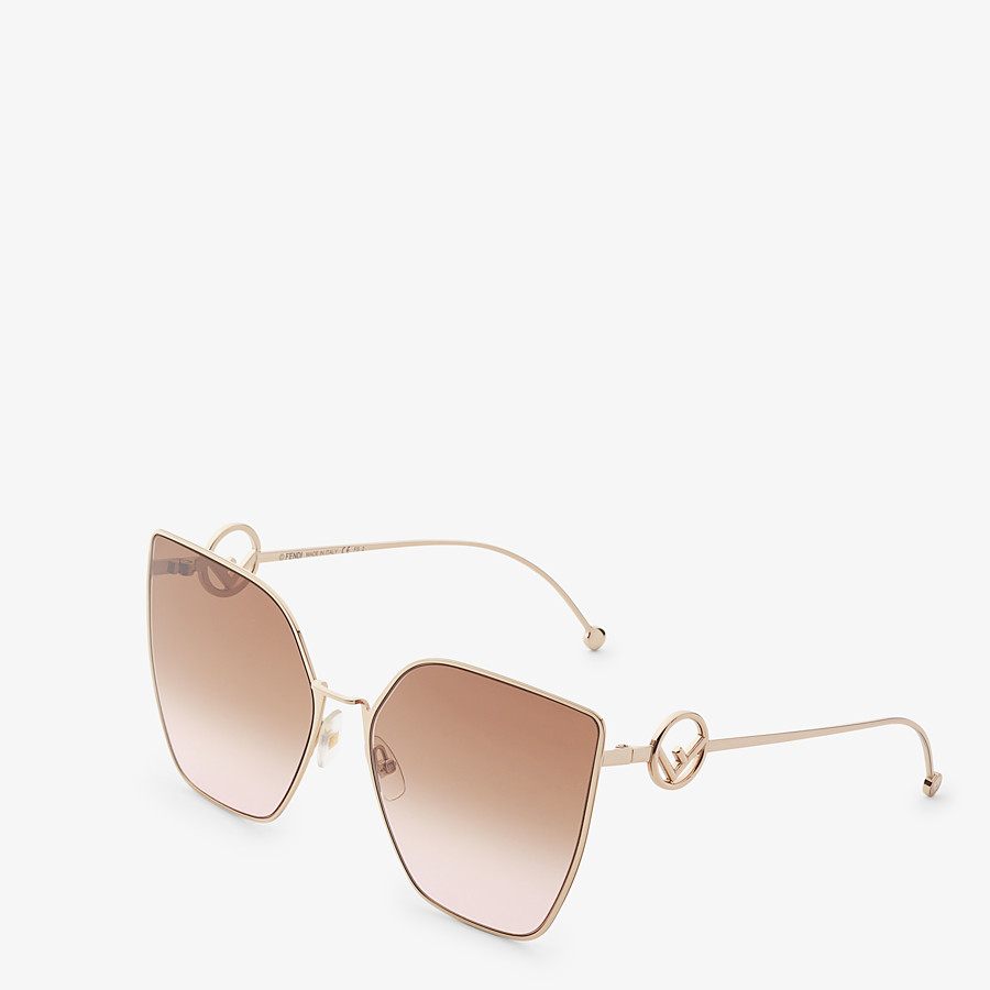 FENDI F IS FENDI - Gold-colored sunglasses - view 2 detail