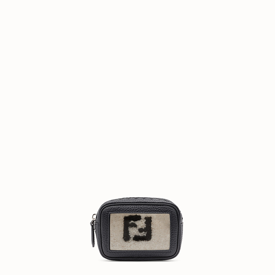 FENDI SMALL CAMERA CASE - Black leather bag - view 1 detail
