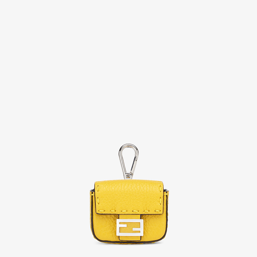 FENDI AIRPODS COVER - Yellow leather cover - view 1 detail