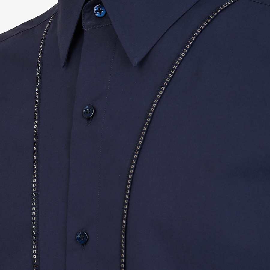 FENDI SHIRT - Blue cotton shirt - view 3 detail