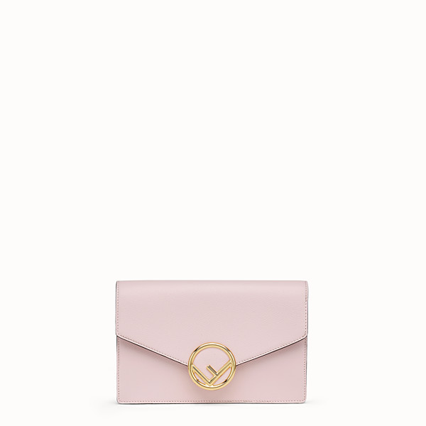 FENDI WALLET ON CHAIN - Pink leather mini-bag - view 1 small thumbnail