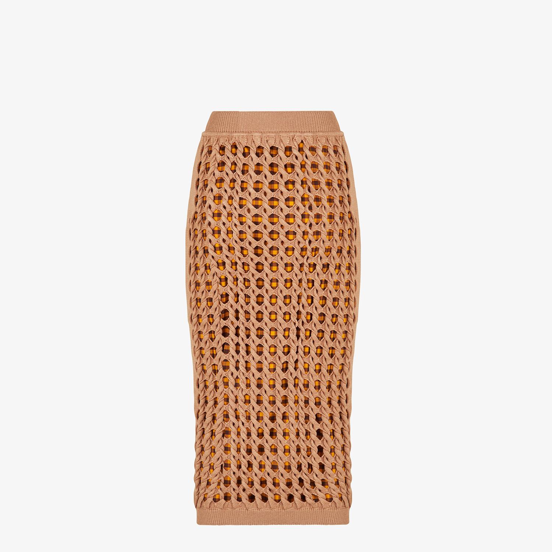 FENDI SKIRT - Beige jersey skirt - view 2 detail
