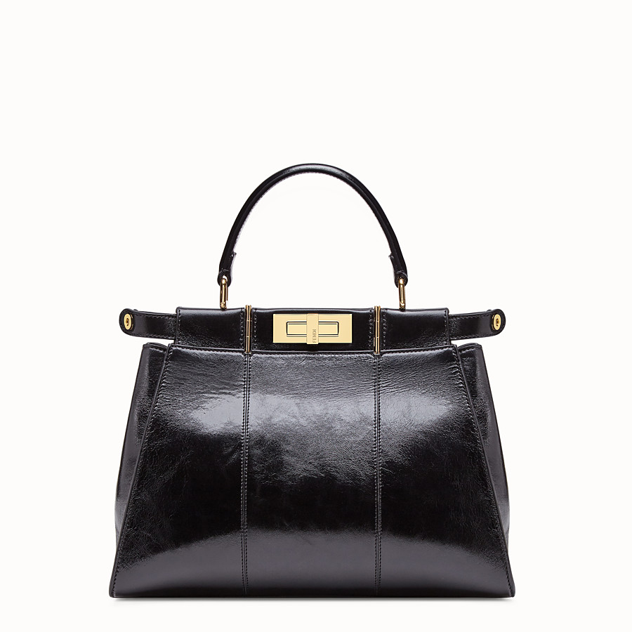 FENDI PEEKABOO ICONIC MEDIUM - Tasche aus Leder in Schwarz - view 3 detail