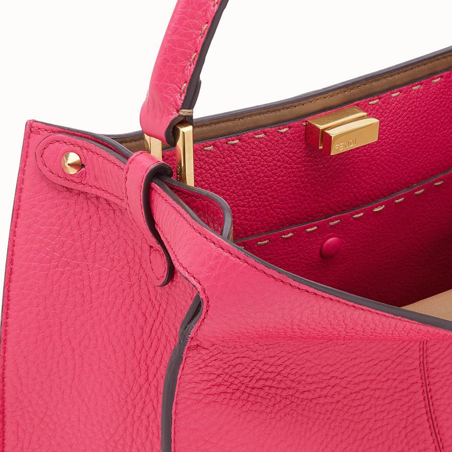 FENDI PEEKABOO X-LITE MEDIUM - Borsa Fendi Roma Amor in pelle - vista 7 dettaglio