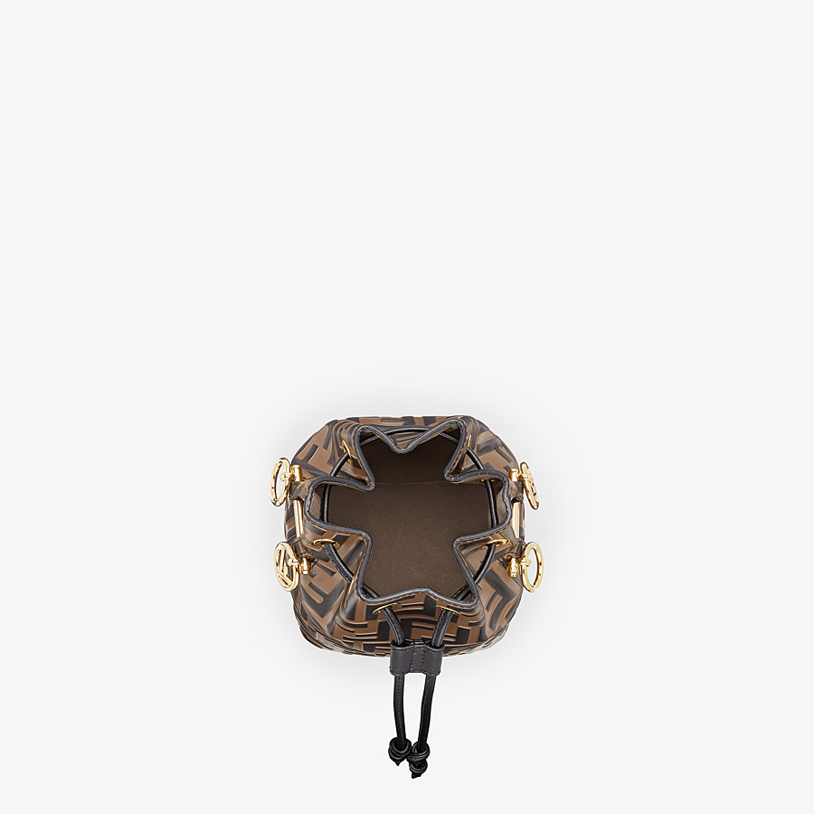 FENDI MON TRESOR - Brown leather mini-bag - view 5 detail